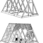 Free chicken house plans for ark and run for 12 chickens with diagrams