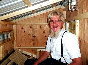 Dan Crew Foreman in Chicken Coop