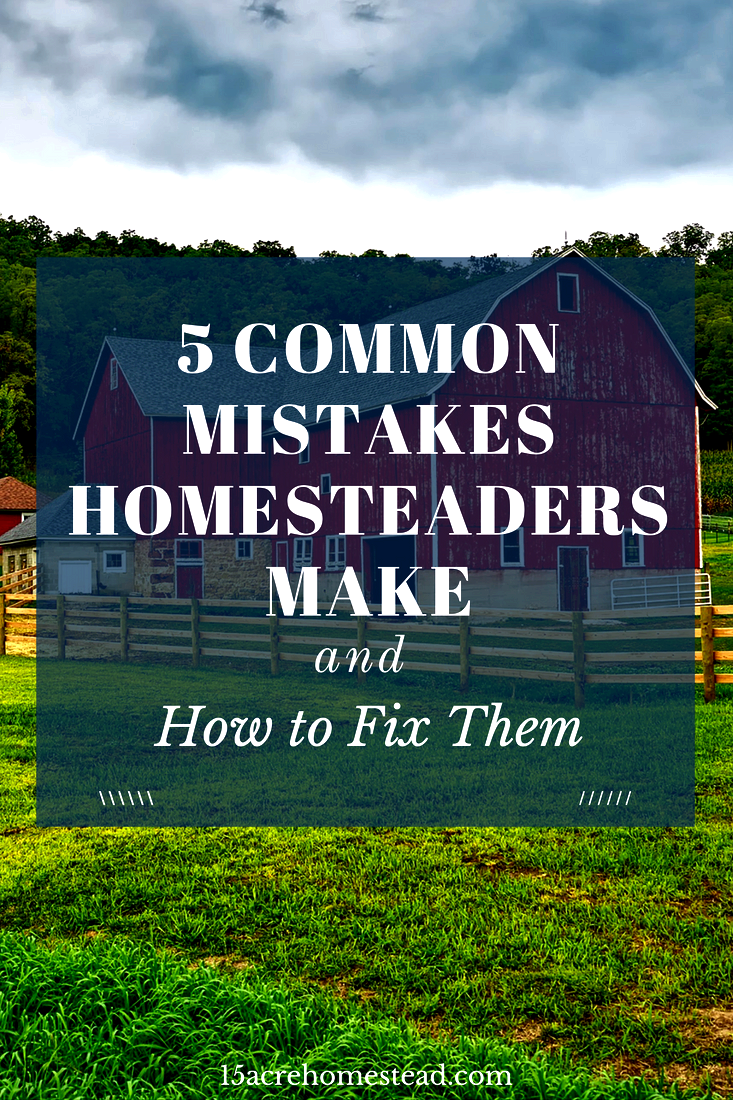 Homesteaders make mistakes, here are some common ones and how to fix them.