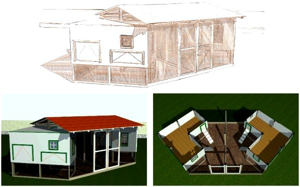 Large Chicken Coop DIY Plan