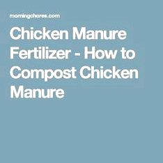 Composting chicken manure — tilth alliance classes to