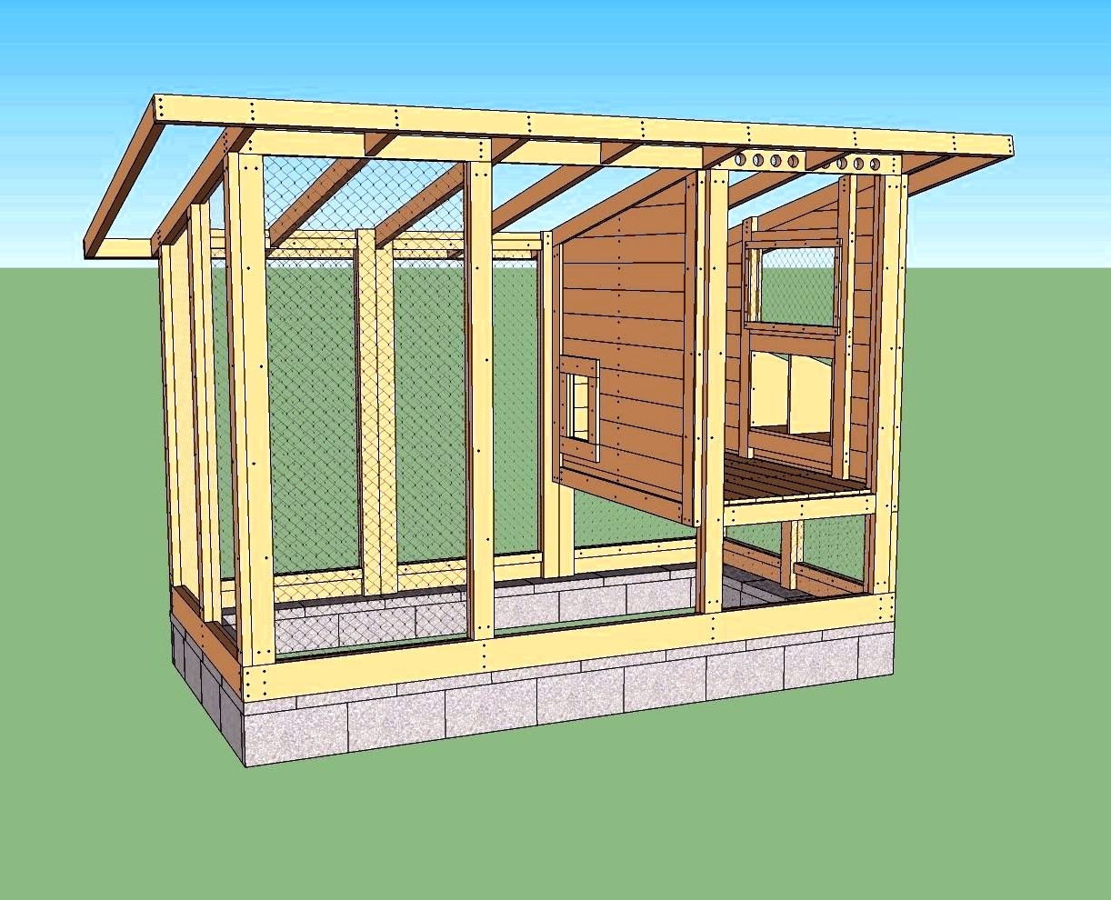 Diy wichita cabin chicken house used for