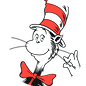The Cat in the Hat logo.