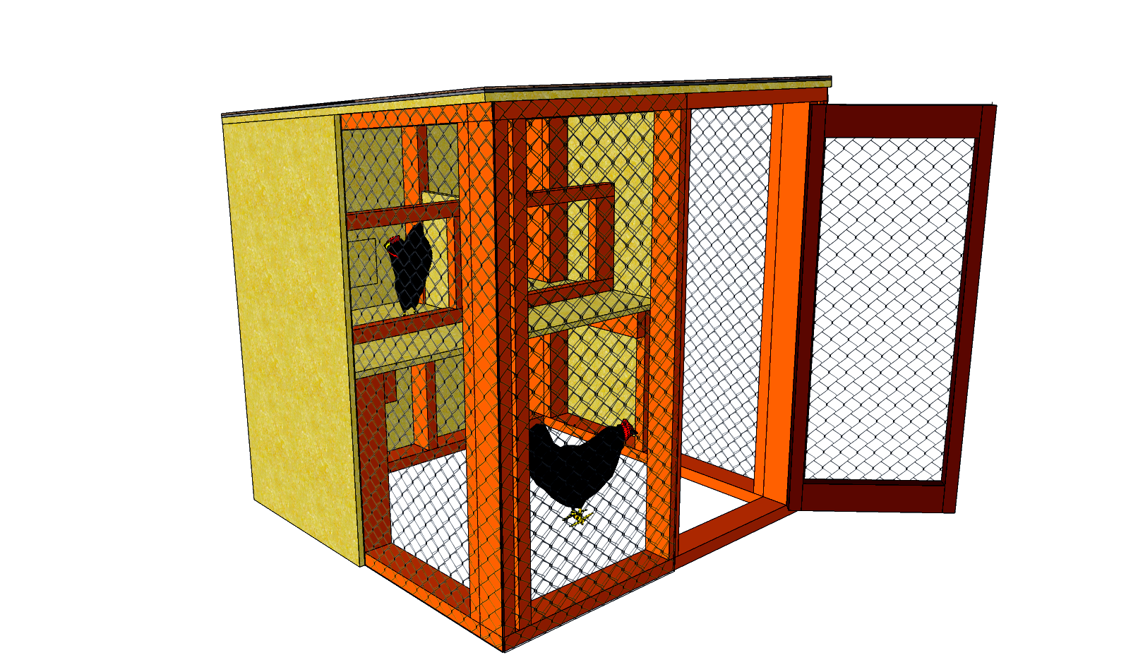 Simple chicken house plans Time                 One Weekend                    Related