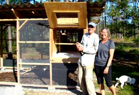 Jessica and family used The Garden Coop plans to build this large backyard chicken coop
