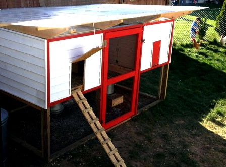 Nesting boxes for chicken coop